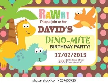 https www shutterstock com image vector birthday invitation 259653725