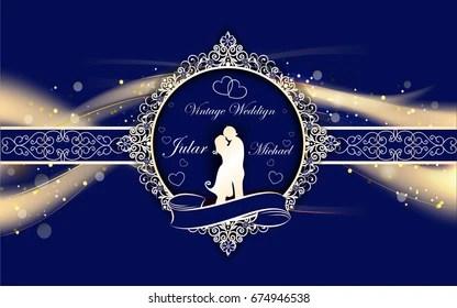 https www shutterstock com image vector blue decorative line art frame design 674946538
