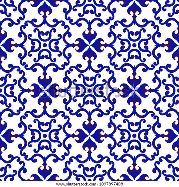https www shutterstock com fr image vector blue white japan chinese seamless pattern 1097897408