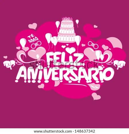 Brazilian Happy Birthday Wishes Stock Vector (Royalty Free) 148637342 - Shutterstock