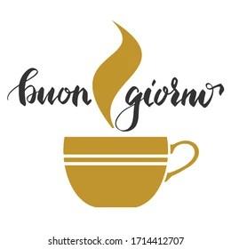 https www shutterstock com fr image vector buongiorno good morning italian italy word 1714412707