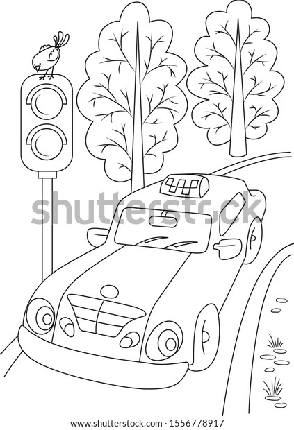 Car Coloring Page Car Outline Transport Stock Vector Royalty Free 1556778917