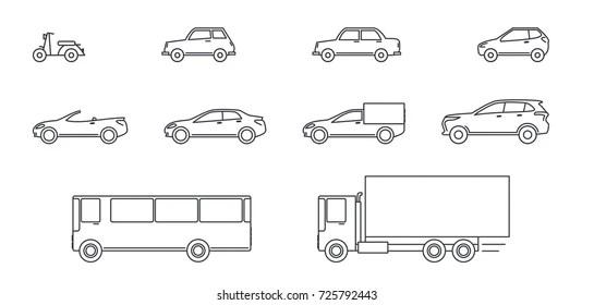 Car Outline Images Stock Photos Vectors Shutterstock