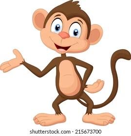 Image of: Cartoon Monkey Presenting Shutterstock Cartoon Monkey Images Stock Photos Vectors Shutterstock