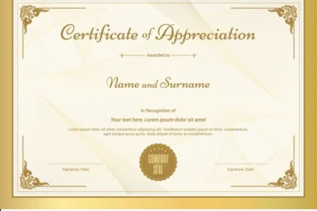 Free Certificate Templates Certificate Of Recognition Template
