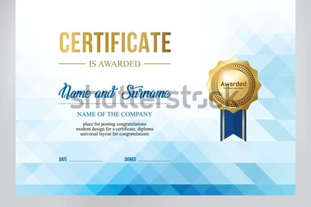 Certificate Design Template Text Placement Stock Vector  Royalty     Certificate design  template for text placement
