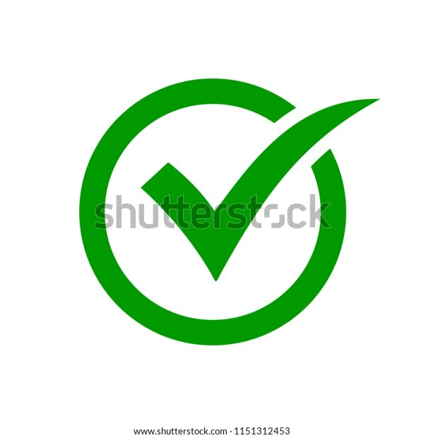 Check Mark Symbol Green Check Mark Stock Vector Royalty Free 1151312453