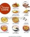 Chinese Cuisine Menu Mockup Stock Vector Royalty Free 625908473