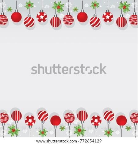 Christmas Border Design Set Stock Vector Royalty Free