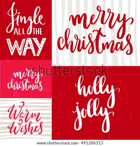 Christmas Quotes Sayings Postcards Poster Banner Stock