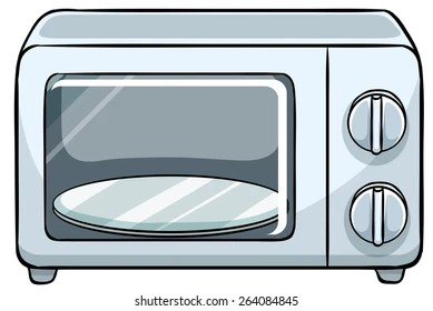 https www shutterstock com image vector close small microwave oven 264084845