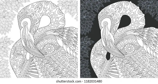 Coloring Page Flamingo Images Stock Photos Vectors Shutterstock