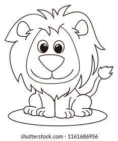 Lion Coloring Pages Images Stock Photos Vectors Shutterstock