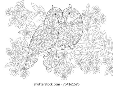 Birds Colouring Pages Images Stock Photos Vectors Shutterstock