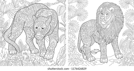 Adult Coloring Pages Images Stock Photos Vectors Shutterstock