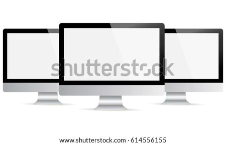 Computer Monitor Apple I Mac Mockup Blank Stock Vector Royalty Free