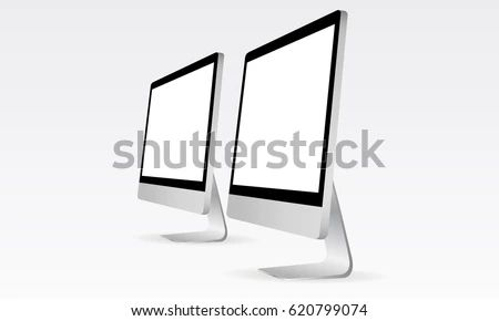Computer Monitor Apple I Mac Mockup Responsive Stock Vector Royalty