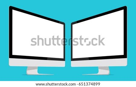 Computer Monitor Apple I Mac Screen Mockup Stock Vector Royalty