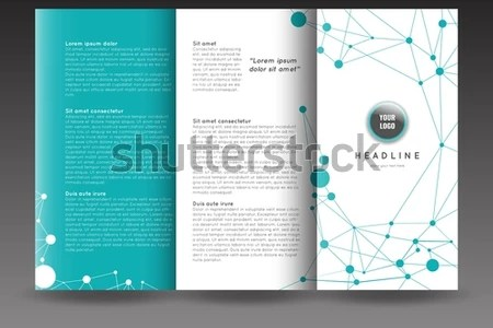 Corporate Trifold Brochure Template Design Connection Stock Vector     Corporate tri fold brochure template design with connection abstract  background  Corporate booklet  Stock