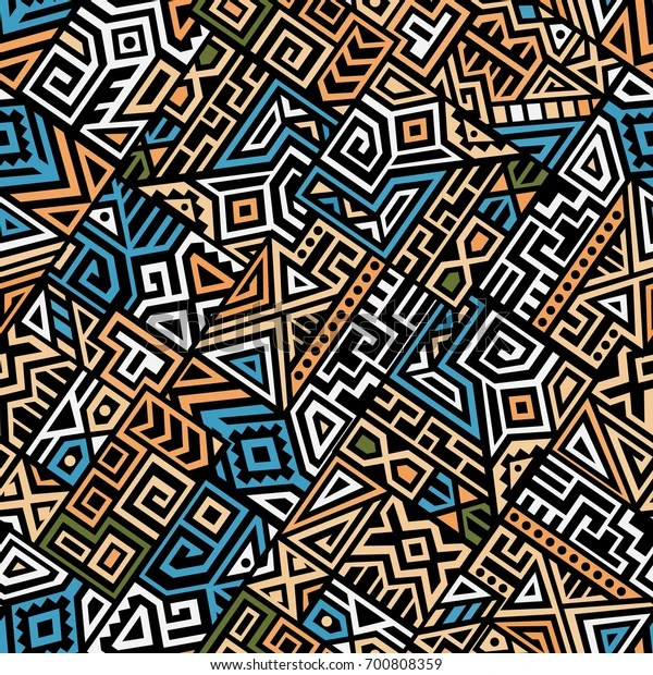 https www shutterstock com fr image vector creative ethnic style square seamless pattern 700808359