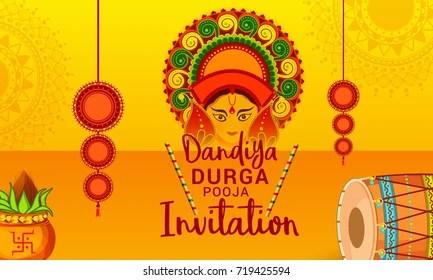 Durga Puja Invitation Card Images Stock Photos Vectors Shutterstock