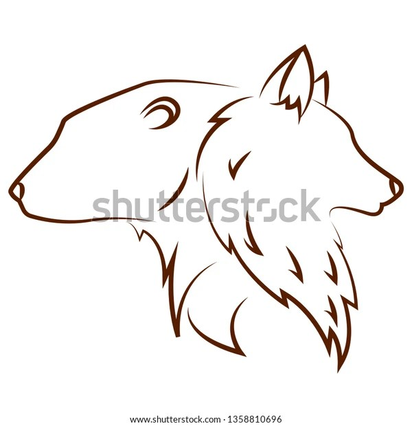 Cute Animals Draw Stock Vector Royalty Free 1358810696