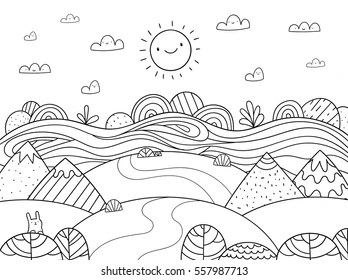 forest coloring page # 11