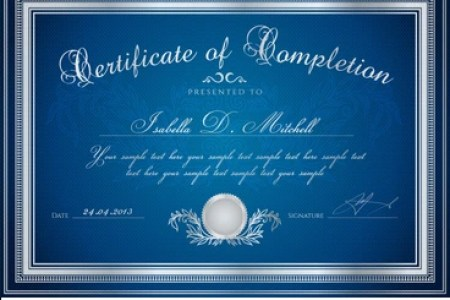 Certificate Background Images  Stock Photos   Vectors   Shutterstock Dark blue Certificate   Diploma of completion  design template   sample  background  with floral