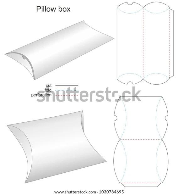 https www shutterstock com image vector die stamp box pillow paper 1030784695