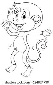 Monkey Outline Images Stock Photos Vectors Shutterstock