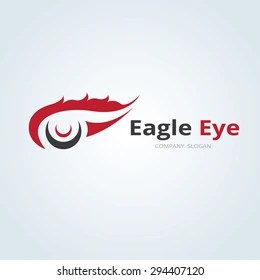 Eagle Eye Vector Logo Design Template