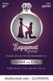 https www shutterstock com image vector engagement invitation card design 1115950931