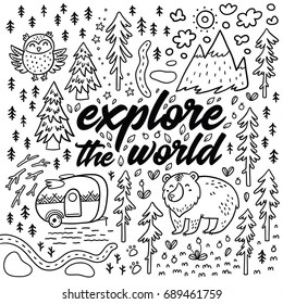 camping coloring page # 18