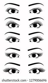 https www shutterstock com image vector eyelash extension shapes 1279006696