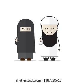 Beautiful printed silk shiffon and mix hijab with niqab. Niqab Cartoon High Res Stock Images Shutterstock