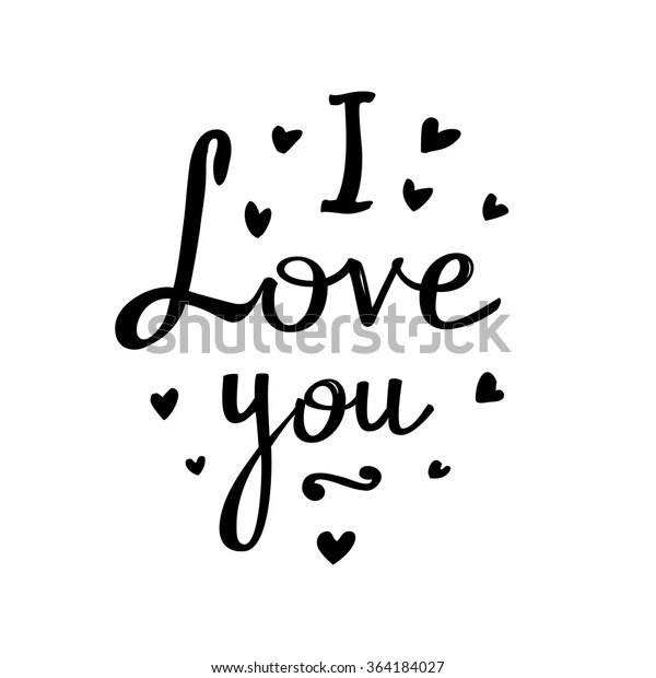 Download Freehand Letters Love You Vector Illustration Stock Vector ...