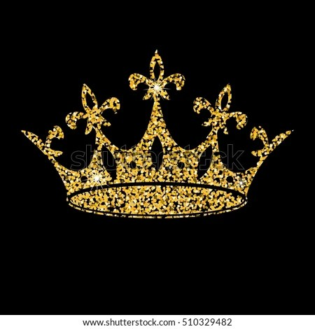Gold Crown On Dark Background Vector Stock Vector Royalty