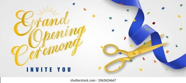 https www shutterstock com image vector grand opening ceremony invite you festive 1063624667