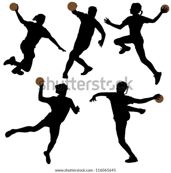 https www shutterstock com de image vector handball silhouette on white background 116065645