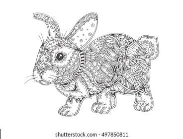 Rabbit Coloring Pages Images Stock Photos Vectors Shutterstock