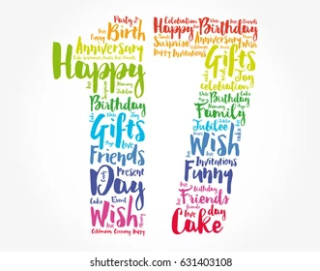 Happy Th Birthday Word Cloud Collage Concept