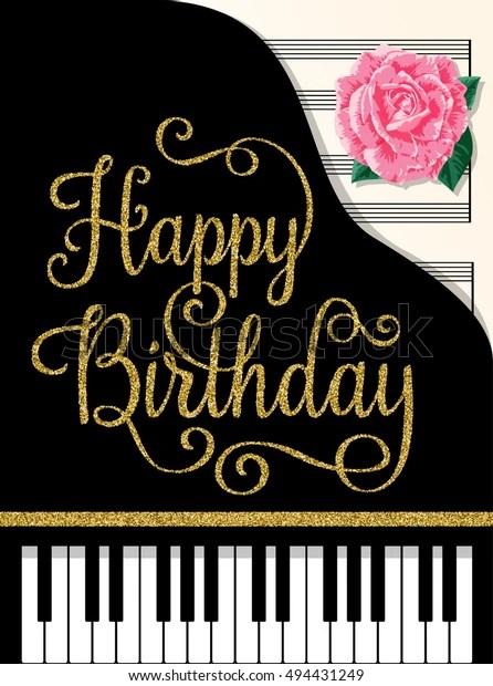 Happy Birthday Greeting Cards Design Classic Stock Vector ...