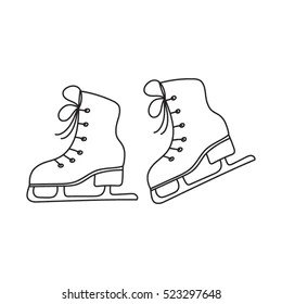 Ice Skates Doodle Images Stock Photos Vectors Shutterstock
