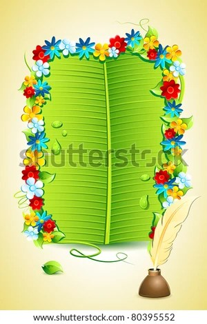 Ilration Of Invitation Letter On Banana Leaf
