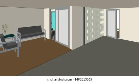 Stairs Inside The House Stock Vectors Images Vector Art | Staircase Inside Living Room | Kitchen Stair | Apartment | Inside Lounge | Staircase Tv | Private Home