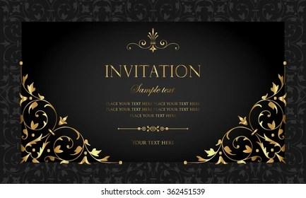 https www shutterstock com image vector invitation card 362451539