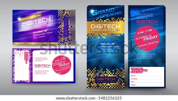 https www shutterstock com image vector invitation card design grand opening digital 1482256325