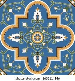 https www shutterstock com image vector italian tile pattern vector seamless floral 1655114146