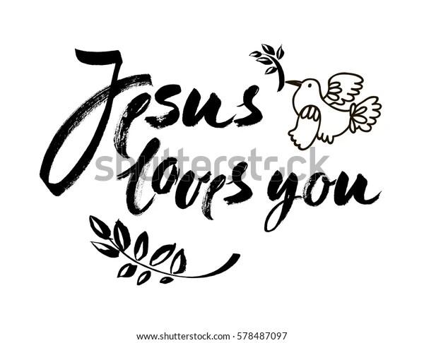 Download Image vectorielle de stock de Jesus Vous Aime - Citation ...