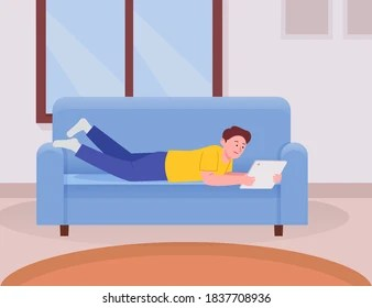 https www shutterstock com search character laying on couch